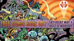Vault of Midnight - Free Comic Book Day 2019 - Poster Design - Anthony Carpenter